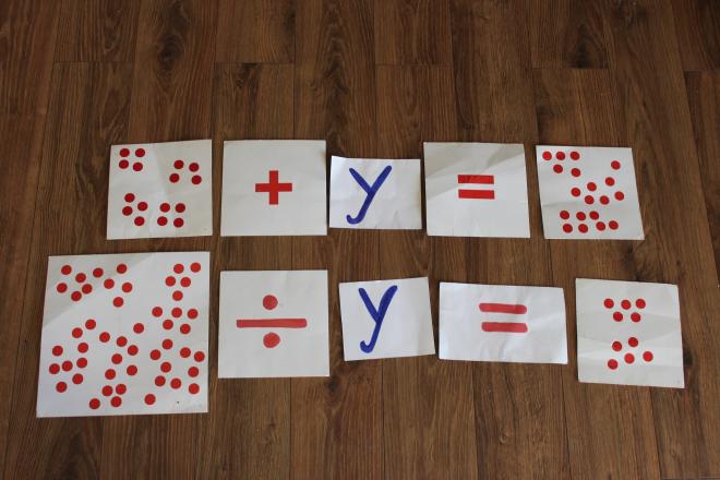 Matematyka, równania z x z dzieckiem