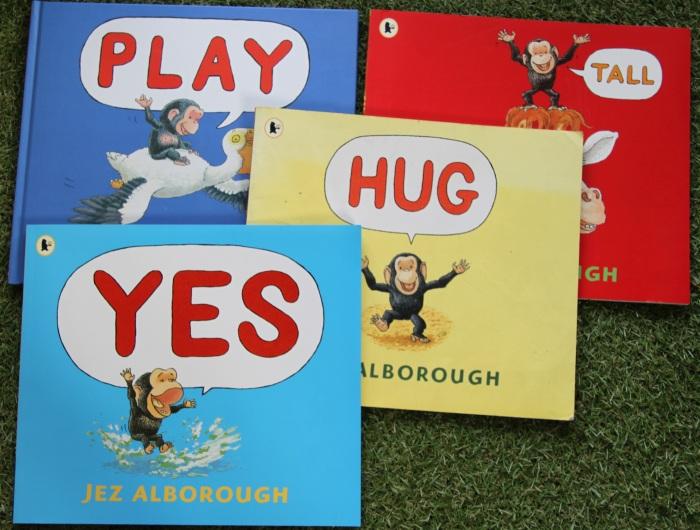 Biblioteczka malucha, czyli recenzje książeczek dla najmłodszych: książeczki o małej małpce oparte o minimalną ilość słów, seria książek o piesku o imieniu Spot
