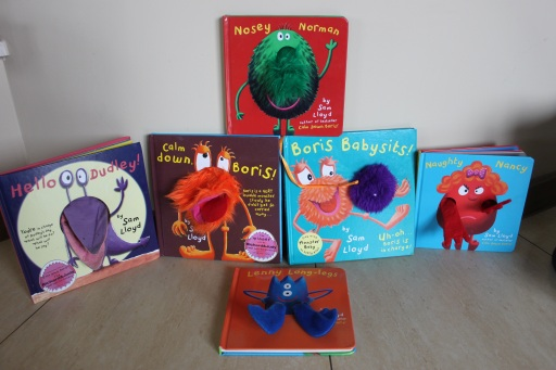 From a toddler's library: Usborne books and monster books by Sam Lloyd