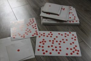 Cards with dots